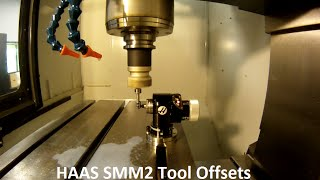 haas super mini mill 2 setting the tool offsets