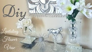 Diy Modern Levitating/ Floating Mirror Vase | Home Decorating Idea With Dollar Tree items!
