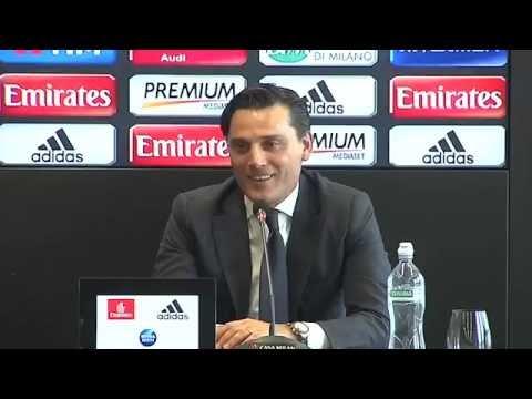 Presentación Vincenzo Montella en el AC Milan