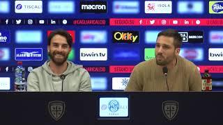 Leonardo Pavoletti e Luca Cigarini in conferenza stampa