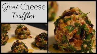 Goat Cheese Truffles I New Year's Appetizer I How to make Goat Cheese Truffles