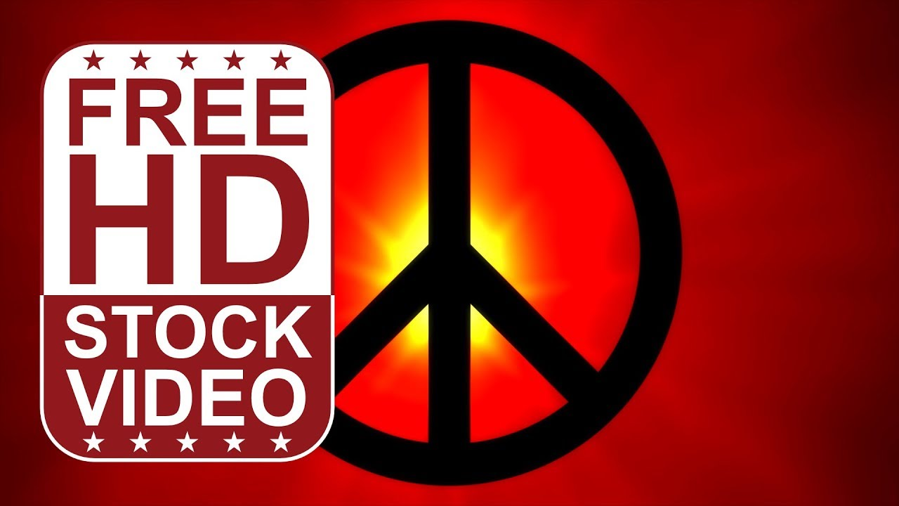 Free hd video backgrounds abstract black peace sign infront of a free hd video backgrounds abstract black peace sign infront of a red lens flare loop youtube biocorpaavc