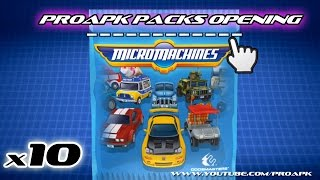 Micro Machines 10 PACKS OPENING!! - iOS/Android Gameplay