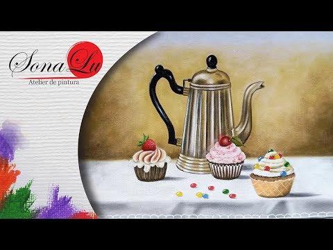 Bule com Cupcakes em Tecido (Aula 250 / Parte 1)