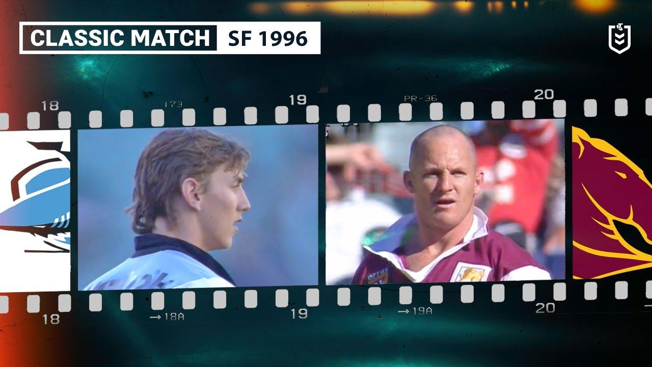 Broncos v Sharks | Semi Final 1996 | Classic Match Highlights | NRL