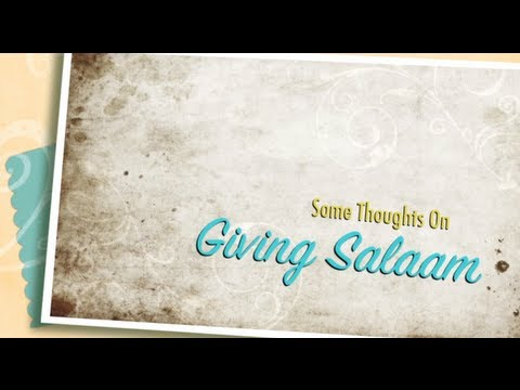 Giving Salaam And Greetings In Islam