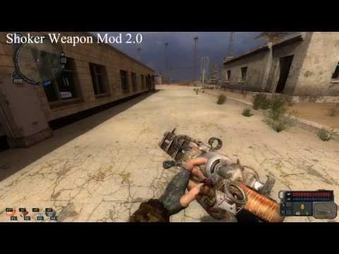 видео: stalker cop, shoker weapon mod 2.0, Палка-стрелялка