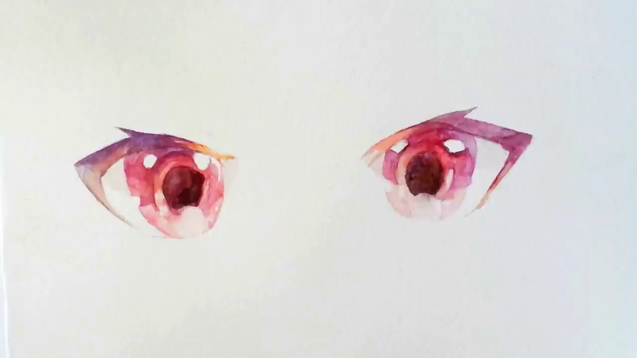 Watercolor Anime Eyes