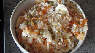 Стир фрай жареный рис с яйцом
