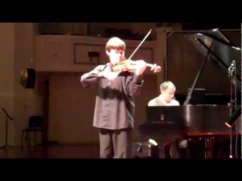 11-yr-old violinist Nathan Meltzer perfoms Hubay on From the Top