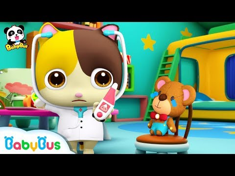 download Baby Kitten Pretend Play with Doctor Toys | Doctor Song | Panda Cartoon | Kids Song | BabyBus