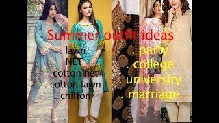 Lawn and summer dress designs 2018 in Urdu and Hindi by hbfc