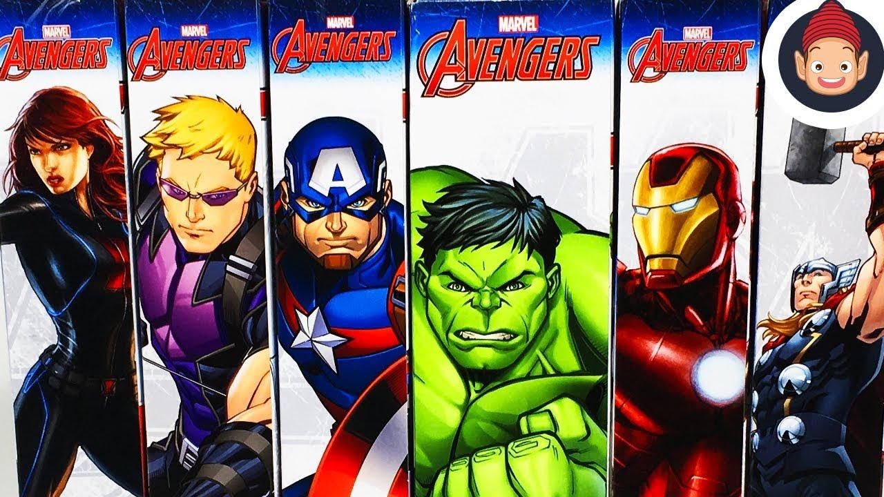 5207f931793 Marvel Avengers Titan Hero Series Hulk Iron Man Captain America Thor  Hawkeye   Black Widow Figures