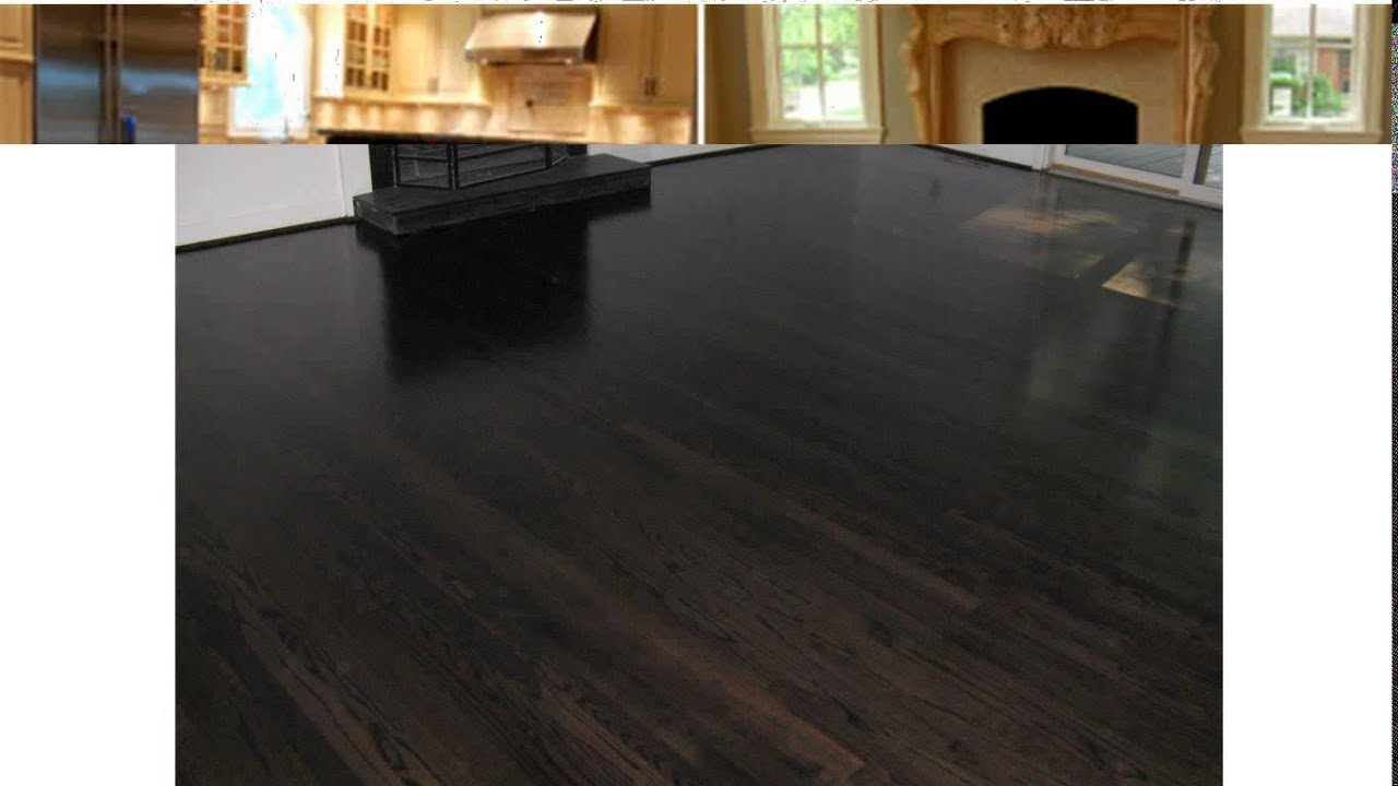 black stained hardwood floors