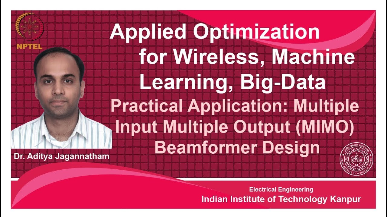 NPTEL :: Electrical Engineering - NOC:Applied Optimization for