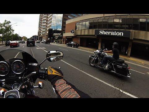 Exploring Hamilton, Ontario On A Harley FXRS-SP, July 9, 2017