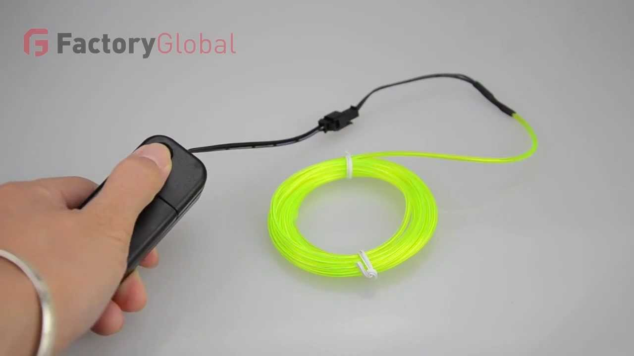 H8931 3M Flexible Neon Light EL Wire Rope Tube with Controller - YouTube