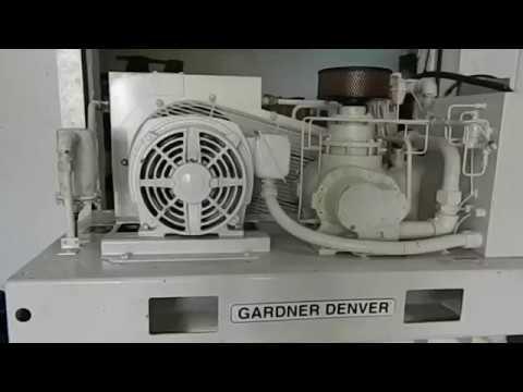25HP GARDNER DENVER ROTARY SCREW AIR COMPRESSOR MODEL EBE