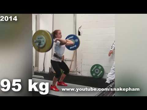 Rebeka Koha | Training progress 2014 - 2018 (58 kg, 20 y/o)