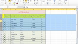 MİCROSOFT EXCEL 2010 GÖRSEL VİDEO EĞİTİMİ-Excel Giriş Sekmesi:Biçimlendirme-3