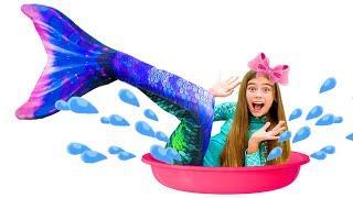 Nastya verwandelt sich in eine Meerjungfrau, märchen für kinder