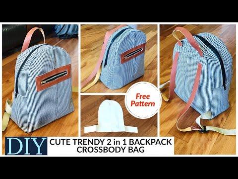 DIY BAG/MINI BACKPACK/CROSSBODY-SHOULDER BAG/BOLSA DIY/REUSE OLD CLOTHES/RECYCLING/DIY กระเป๋า
