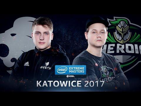 CS:GO - North Vs. Heroic [Nuke] - Group B - IEM Katowice 2017