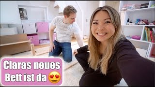 Claras neues Bett 😍 Ich lache mich kaputt! Möbel aufbauen & zersägen   Umbau im Garten   Mamiseelen