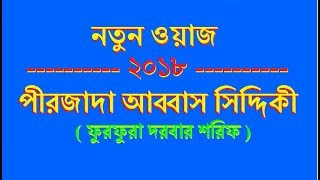 নতুন ওয়াজ - পীরজাদা আব্বাস সিদ্দিকী   Bangla waz Abbas Siddique   furfura sharif