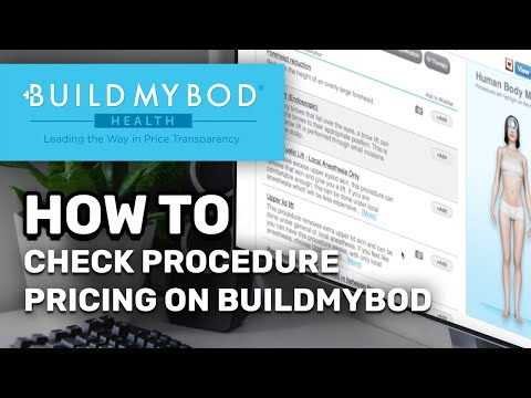 How to check procedure pricing on BuildMyBod Health!