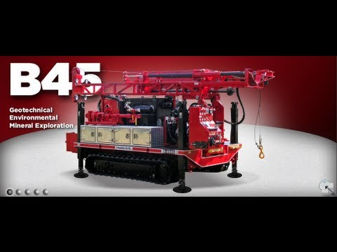Mobile Drill B45 HD on Track Carrier