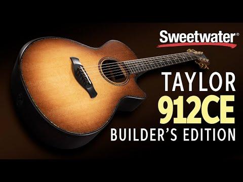Taylor 912ce Builder's Edition Acoustic-electric Guitar Demo