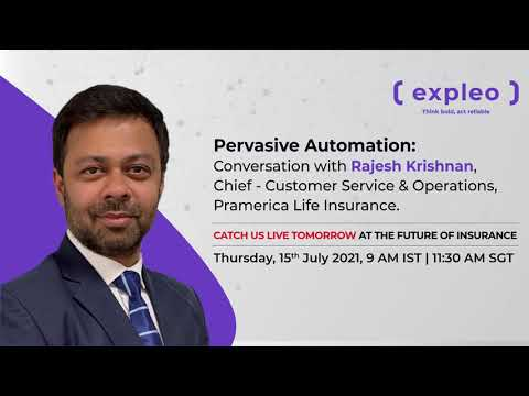 Webinar | Future of Insurance - Achieving Speed and Agility through Pervasive Automation