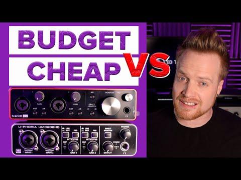 Focusrite Vs Behringer Audio Interface Comparison with Audio Examples