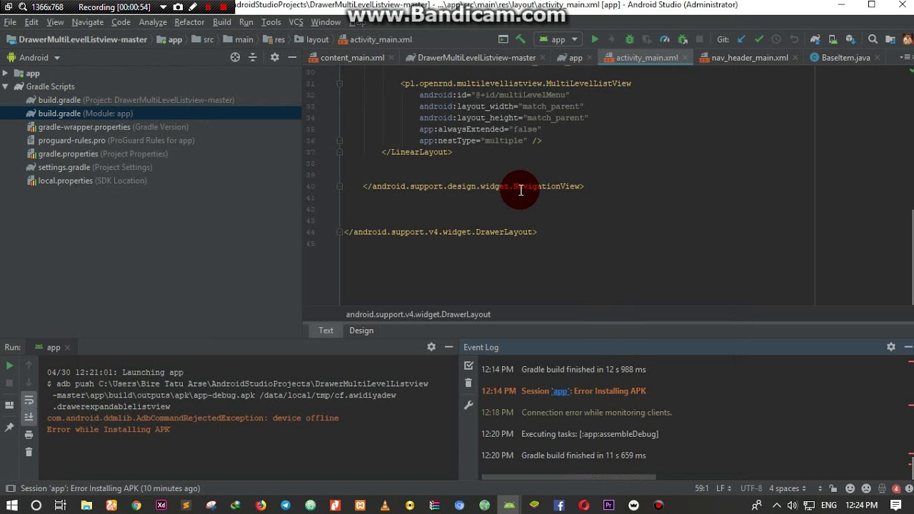 How to fix Session app error installing apk in Android Studio 3 2 1 and  above 100% Solve Error