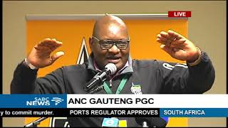 ANC Gauteng PGC underway in Irene