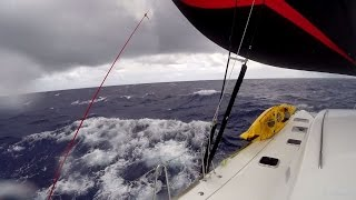 Sailing squalls with the asymetric sail