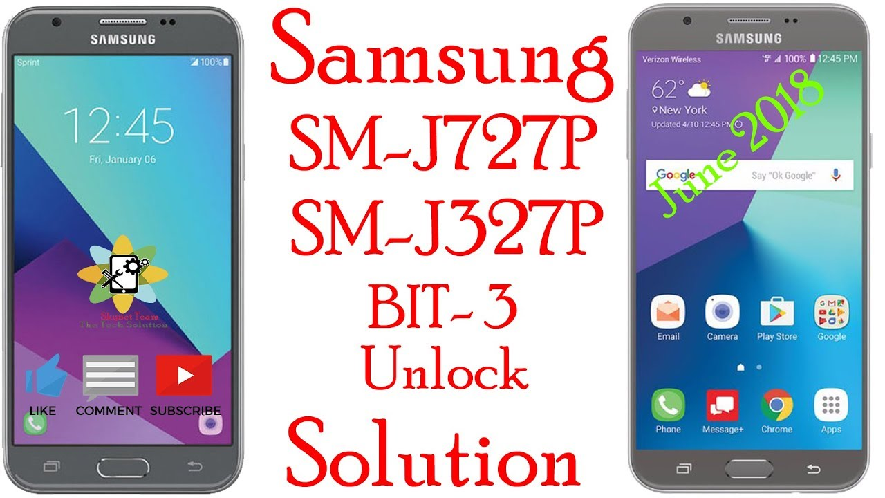 Samsung j327p & j727p Unlock Solution Free