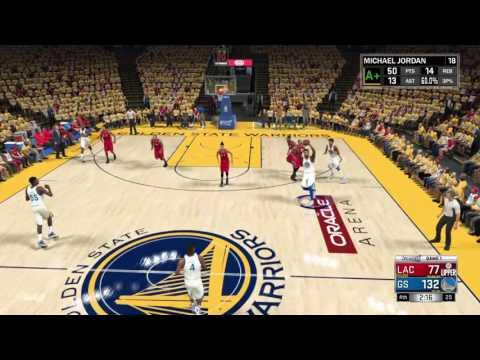 NBA 2K17 my career gsw vs lc in the nba...