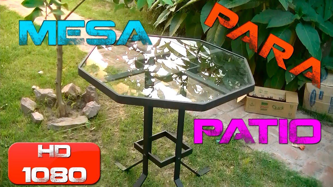 Mesa para patio garden table youtube for Mesas para patio