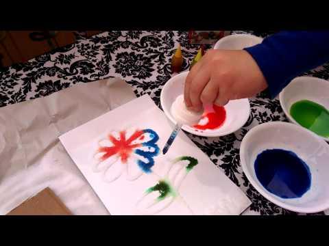 Kids craft DIY 3D Salt Painting, summer activities