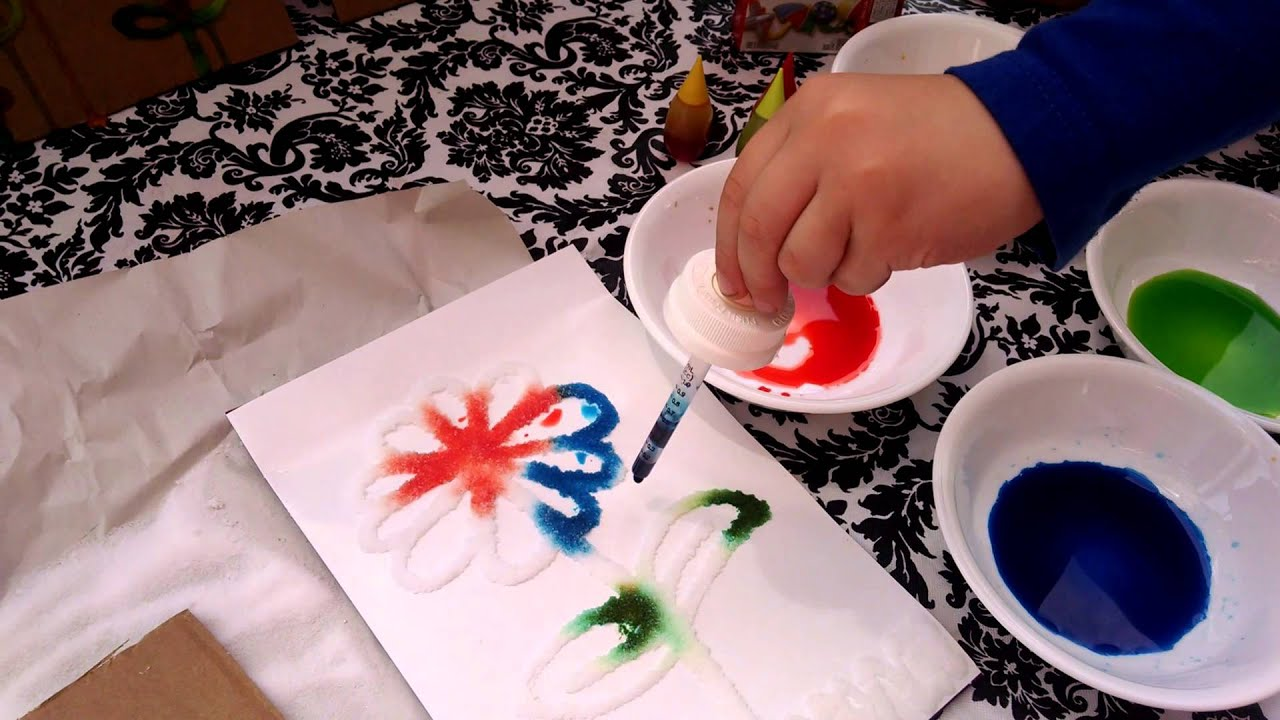 Kids Craft DIY 3D Salt Painting Summer Activities
