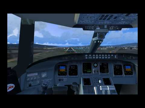 Track IR - CRJ-200 Cockpit Landing - US Airways Express - Flight US 2748