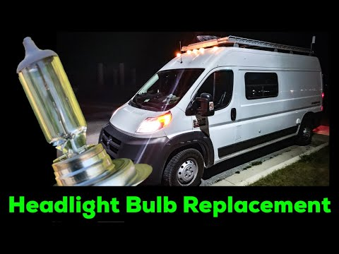 DIY Ram Promaster Headlight Bulb Placement