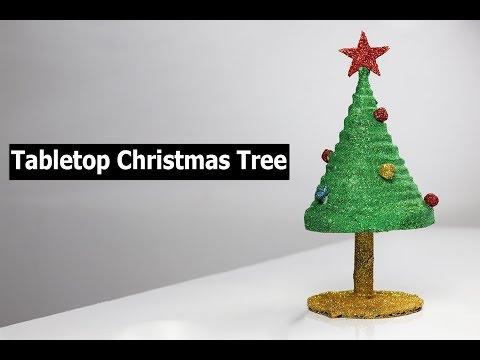 How to make mini tabletop Christmas tree | DIY Christmas Decorations