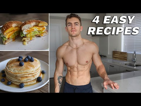 4 Simple High Protein Breakfast Ideas **for building muscle**