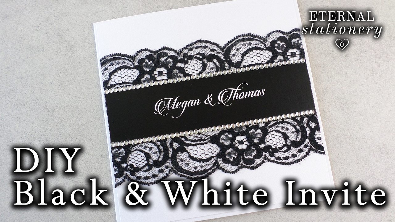 How To Make An Easy Black And White Invitation Diy Wedding Invitation White Ink Hack