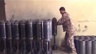 مصر العربية | شاهد كيفية تصنيع الاسلحة والقذائف في سوريا