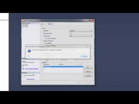 How to backup .bak file in sql server