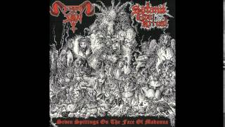In League with Satan / Satanik Goat Ritual - Seven Spittings on the Face of Madonna (Full Split)